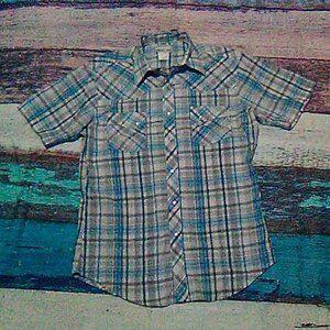 Wrangler Snap Front Western Short Sleeve Top M